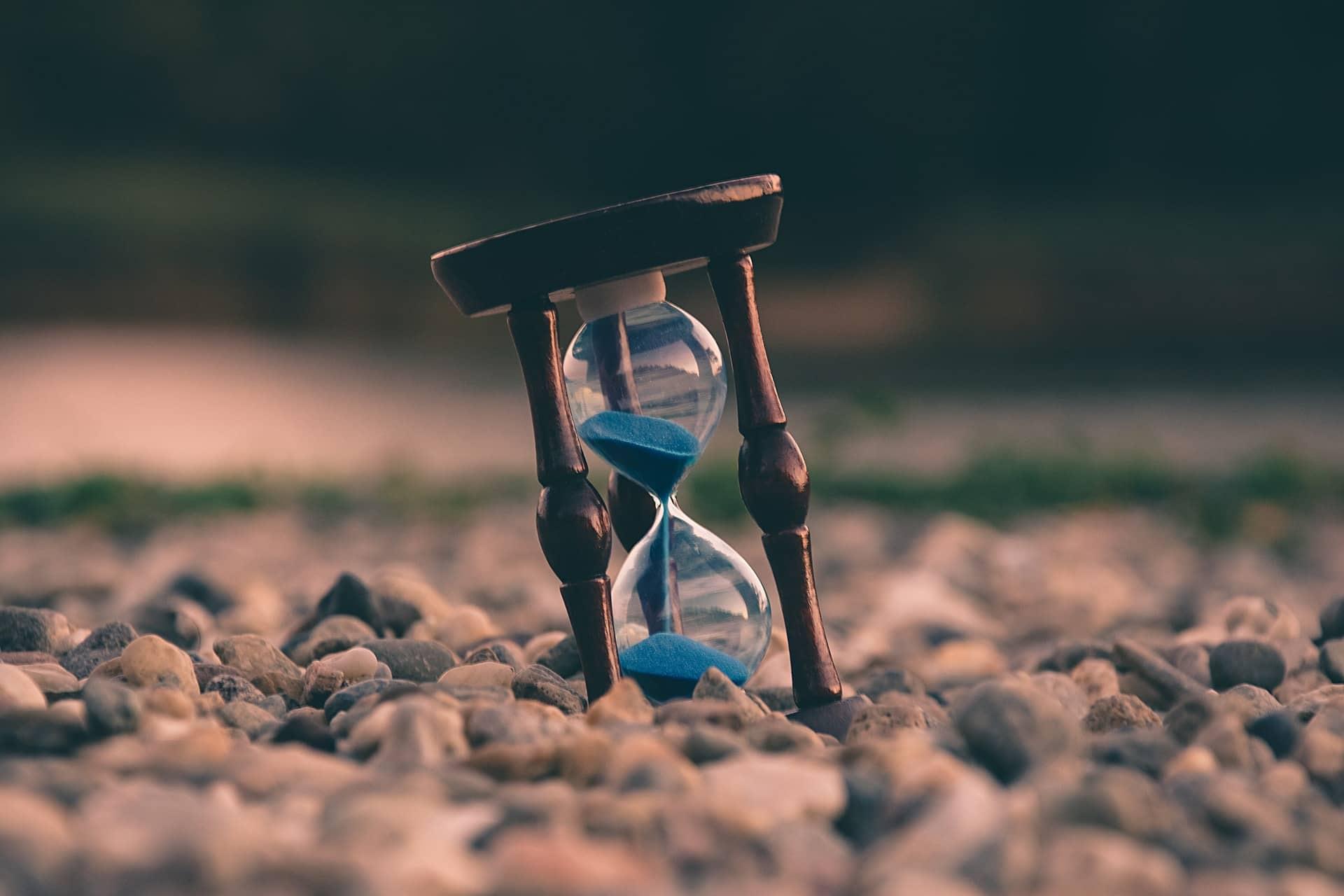 att bestämma över sin tid - timglas