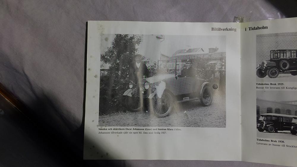 bilen tog sig från Tidaholm till Tomelilla